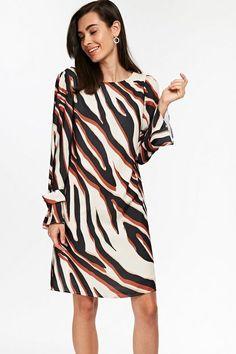 Stone Zebra Print Shift Dress - Dresses- Wallis Latest Fashion Dresses, Latest Dress, Print Shift, Wallis, Dress Styles, Zebra Print, Going Out, Cold Shoulder Dress, Stone