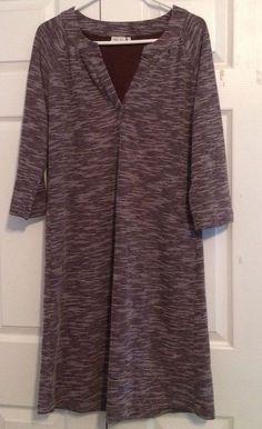 Ellie Kai Dress, Size XL, Brown,White, 50% Cotton, 50% Polyester, NWOT #EllieKai #Dress #Casual