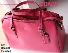Coach Peyton Bennett Mini Satchel Crossbody Handbag Pomegranate Leather F50430