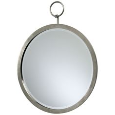 "Cyan Design Round Hanging Mirror. Details: - Polished chrome finish - Materials: Iron and mirrored glass Dimensions: - Overall: 23.5"" w x 23.5"" d - Weight: 22.75 pounds"