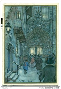 Anton Pieck, Illustrator, Fantasy Places, Dutch Painters, Motorcycle Art, Dutch Artists, Fantasy Illustration, Fantasy Landscape, Art Music