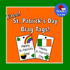Brag Tags are everywhere! Are you wondering if brag tags will work for you?  Try out these 2 free St. Patrick's day brag tags to find out!