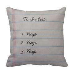 Funny To Do List Throw Pillow    #pillows #homedecor