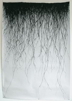 Vertical Drawing 02, ink drawing by Jonathan Munro