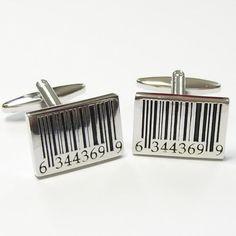 Barcode Cufflinks (C126)