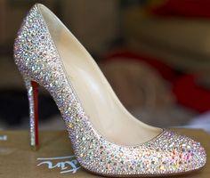 DIY Christian Louboutin heels. So. Sparkly.