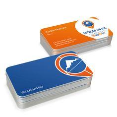 Aplicação em papelaria - cartão de visita