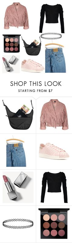 """Danny"" by evolyn ❤ liked on Polyvore featuring Pacsafe, Topshop, Levi's, adidas, Burberry, Boohoo and MAC Cosmetics"
