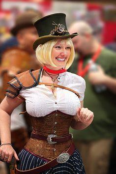 Cute Blonde Steam Punk Lady 2010 Phx Comicon played by Lady Wolf Star - by gbrummett (Grant Brummett) on Flickr.com