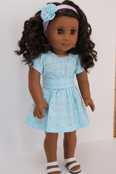 American Girl Doll Clothes Multi-colored by LollyDollyDesigns