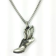 Shields of Strength - Phil 4:13  I can do all things through Christ who strengthens me!  - Mens Winged Shoe