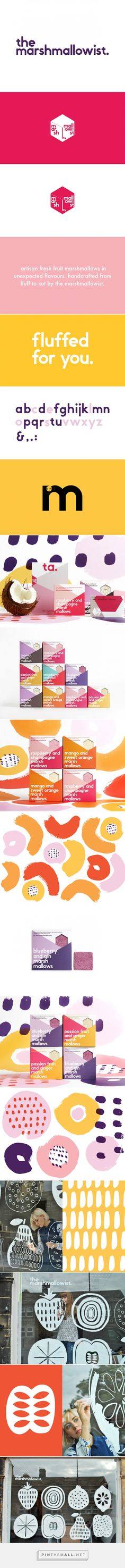 The Marshmallowist marshmallow packaging designed by Veronica Lethorn & Eve Warren - http://www.packagingoftheworld.com/2015/10/the-marshmallowist.html