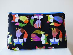 Fox Wash Bag, Toiletry Bag, Large Makeup Bag, Fox Travel Bag, Toiletry Storage Bag, Large Zipper Pouch, Fox Pouch, Beauty Bag, Accessory Bag by TabbyCatCraftsShop on Etsy