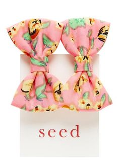 Girls Hair Accessories | Floral Bow Duck Clip | Seed Heritage