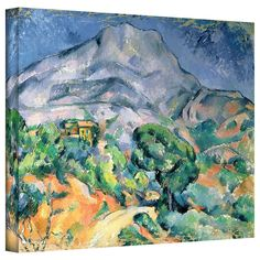 ArtWall Art Wall Paul Cezanne 'Mont Sainte-Victoire' Gallery-Wrapped
