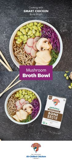 Asian Cooking, Healthy Cooking, Healthy Life, New Recipes, Soup Recipes, Cooking Recipes, Chicken Brands, Mushroom Broth, Dinners