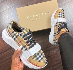 Rate these Burberry sneakers from Shop via the link in bio . Sneakers Fashion, Fashion Shoes, High Fashion, Burberry Sneakers, Sneaker Store, Hype Shoes, Buy Shoes, Dress Shoes, Shoes Heels