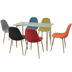 Decoration Table, Eames, Dining Chairs, Furniture, Poufs, Home Decor, Denver, Design, Table And Chairs