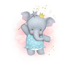 Children Illustrations by Kathrin Wulfers, via Behance Elephant Fabric, Elephant Pattern, Elephant Art, Elephant Illustration, Love Illustration, Doodle Characters, Elephant Pictures, Baby Clip Art, Cute Clipart
