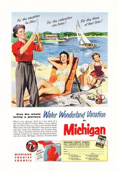 1950s Advertisement  Pure Michigan  Vintage Antique by Holcroft, $10.00
