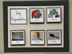Using Visual Schedules with Children · Playful Learning I like the fact that the child's own items to help with the recognition of the task