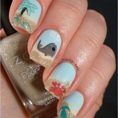 Beach Nails! #cutenails #nailart #nails