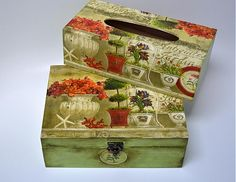 bibidekoracie / Antique de jardin krabička