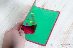 Tarjeta árbol de Navidad 3D