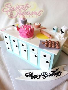A bakers themed birthday cake made for myself. From Sweet Dreams Bakery - Tennessee