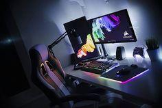 My Corsair RGB setup is now complete and I'm in love   #corsair #corsairgaming #polaris  #pcmr #pc #pcgaming #pcmasterrace #battlestation #gaming #gamer #custompc #pcbuild #instatech #desktop #workstation #tech #technology #setup #inspo #inspiration #mydesk