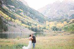 Aspen, Colorado Wedding Photography during Aspen's Hot Air Balloon Festival at T Lazy 7 Ranch