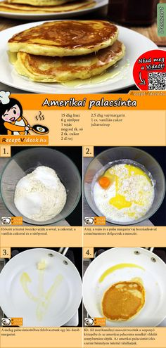 Das Amerikanische Pfannkuchen Rezept Video f… Fancy American pancakes? The American pancake recipe video is easy to find using the QR code 🙂 # Breakfast recipes Pancakes Recipe Video, American Pancakes, Batter Recipe, Chocolate Chip Pancakes, Homemade Pancakes, Hungarian Recipes, Diy Food, No Cook Meals, Food To Make
