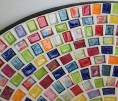 ..glass mosaic pieces