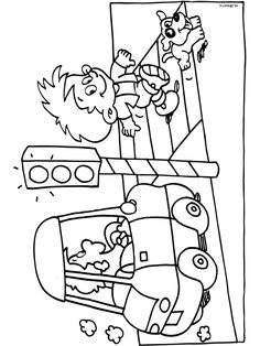 Kleurplaat Pas op in het verkeer! - Kleurplaten.nl Preschool Activity Sheets, Sensory Activities Toddlers, Preschool Worksheets, Craft Activities For Kids, Preschool Activities, Feelings Preschool, Preschool At Home, Transportation For Kids, Art Education Lessons
