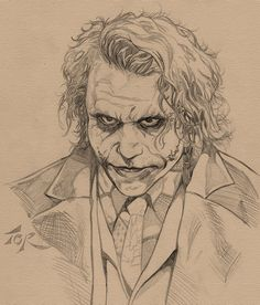 Movie Joker Sketch by torsor