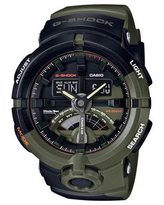 G-Shock | Men's Analog-digital Chari & Co. Black/green Resin Strap Watch 49mm Ga500k-3a - Limited Edition
