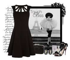 Little Black Dress by greygold on Polyvore featuring polyvore, fashion, style, Oasis, Avalaya, Creed, Magid, Chanel, Christian Louboutin, clothing, paris, black, classy, eiffeltower and cameo