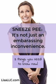 Sneeze pee, incontinence and pelvic floor disorders are all too common but this doesn't mean they're normal. Addressing the issue sooner than later is important for preventing other issues from developing down the road. And no, doing more Kegels isn't enough. Click to get more tips.