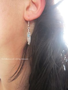 earrings silver color by Zaful  #earrings #accessories #feather #zaful