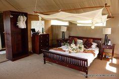 Safari To Linyanti Bush Camp In Linyanti - Botswana - AfricanMecca Safaris Two Twin Beds, Comfortable Sofa, Lodges, King Size, Cribs, Safari, Tent, Camping, Albums