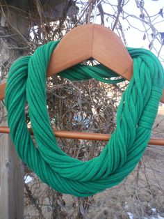 Christmas Sale!  Use coupon code HOLLYJOLLY for 15% off!  Infinity Scarf  Irish Green Color by sister9designs on Etsy, $12.00