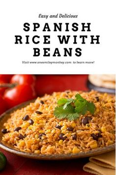 Spanish Rice with Beans Easy and Delicious spanish rice and beans recipe - yummy recipe so easy to make!Easy and Delicious spanish rice and beans recipe - yummy recipe so easy to make! Rice Recipes For Dinner, Easy Rice Recipes, Simply Recipes, Bean Recipes, Pasta Recipes, Mexican Food Recipes, Vegetarian Recipes, Cooking Recipes, Healthy Recipes