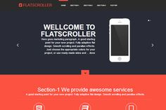 Introducing FlatScroller! Modern Bootstrap landing page flat style responsive one page scroller with parallax effect.