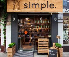 A natural and casual fast-food restaurant in Kiev with motto be simple, eat simple.
