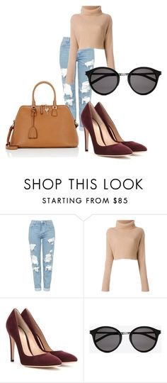 """""""winter style"""" by tissi97 on Polyvore featuring moda, Topshop, Gianvito Rossi, Yves Saint Laurent e Maison Margiela"""
