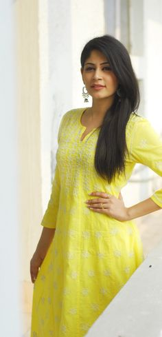 #happy #yellow - #chikankari #anarkali only at #Fabindia