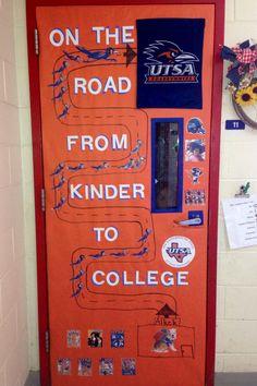 My kinder to college door!