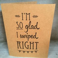 Swipe Right Tinder / Online Dating Card  by inkybymisfitdesigns