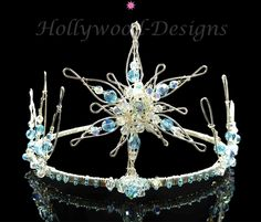 1e6e0d135c19 Angel-Ice Tiara - An eye-catching six pointed centre star with a dramatic