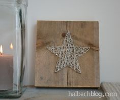 Star of silver cord and nails on coarse wood – stylish companion for the … - DIY CHRİSTMAS Etsy Christmas, Christmas Wood, Simple Christmas, Red And Gold Christmas Tree, Xmas Theme, Christmas Wallpaper, String Art, Xmas Decorations, Diy Crafts